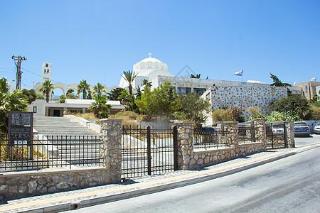 希腊圣托里尼岛上造型别致的建筑图片