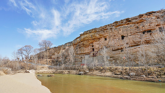 榆林红石峡石窟图片