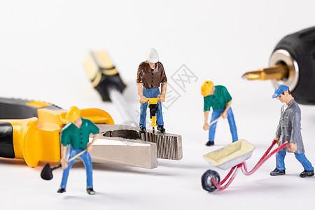 劳动节创意小人图片