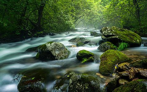 湖泊溪流瀑布图片