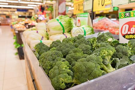 超市蔬果大卖场西兰花图片