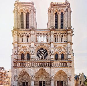 法国巴黎圣母院外观图片
