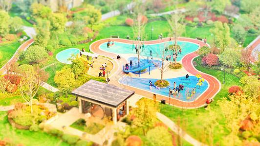 小区游乐场移轴景观图片