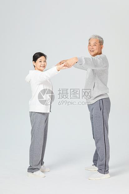 老人运动跳舞图片