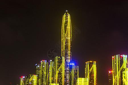 深圳福田区平安大厦灯光秀图片