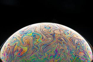 彩色的肥皂泡泡图片
