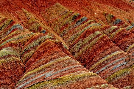 丹霞地貌自然风光图片