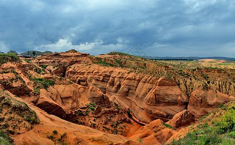 雨岔大峡谷自然风光图片