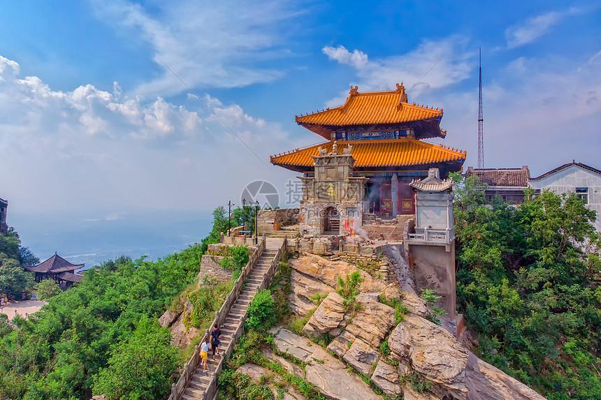 旅游名胜湖北金顶景区图片