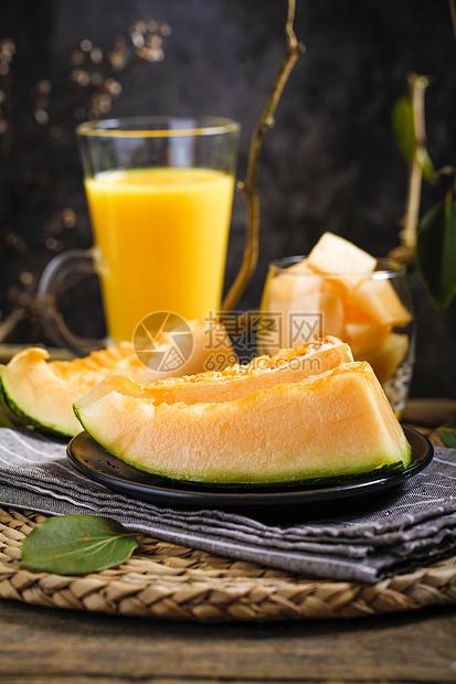 新鲜哈蜜瓜图片