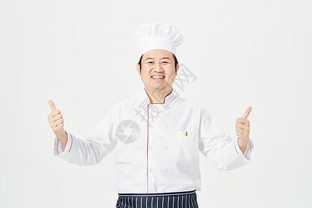 男性厨师点赞图片