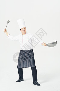 男性厨师炒菜图片