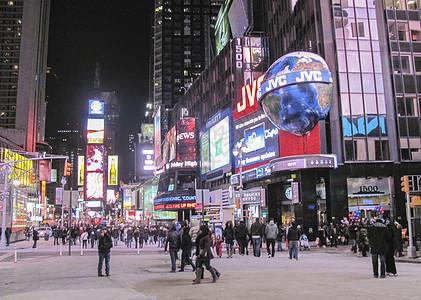纽约地标时代广场夜景图片