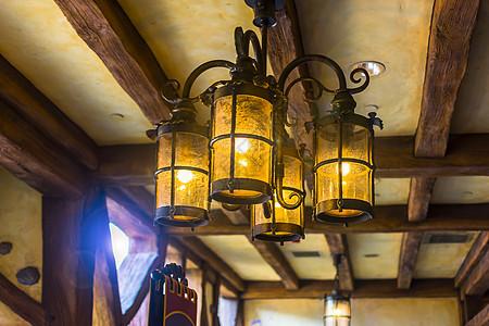 复古吊顶灯图片