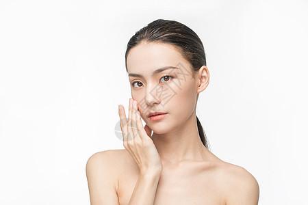 女性美妆护肤面部展示图片