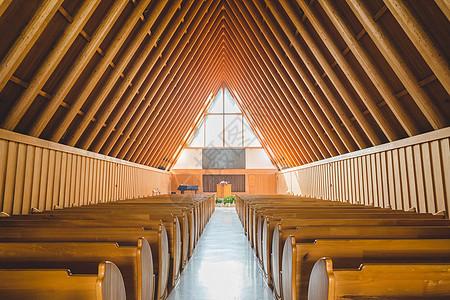 清晨的教堂图片