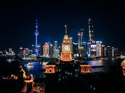 上海夜景航拍图片