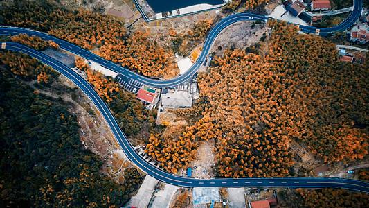 航拍盘山公路图片