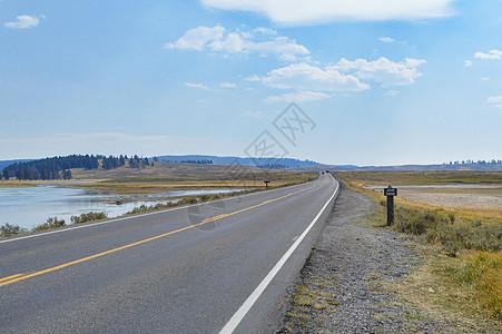 美国黄石公园道路公路图片