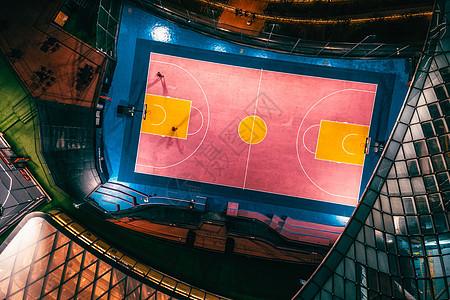 苏州中心科幻的灯光球场图片