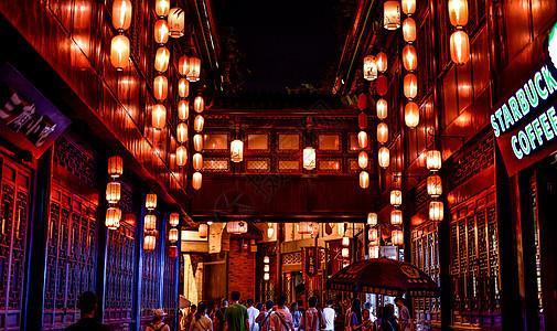 成都锦里夜景图片