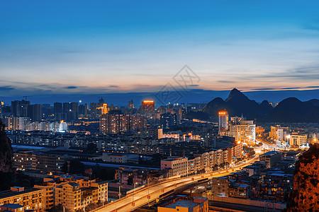 桂林临桂区老城区俯瞰城市风景图片