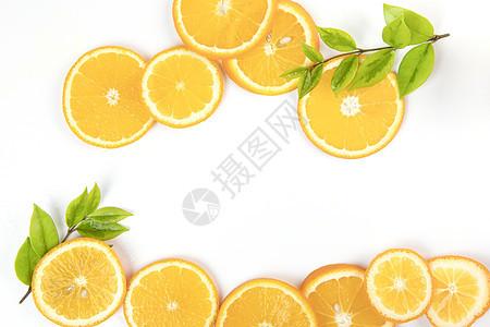 橙子切片图片