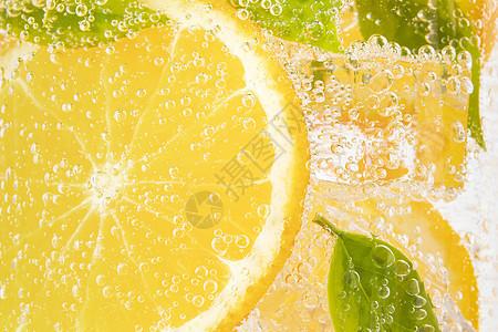 橙子气泡水图片