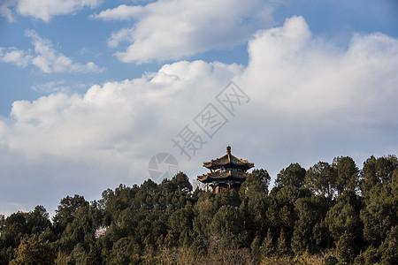 北京景山公园的古建筑picture