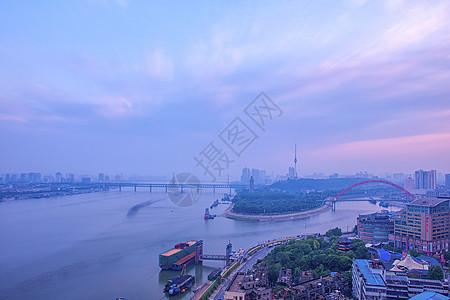 武汉长江与汉江交汇处龙王庙江景图片