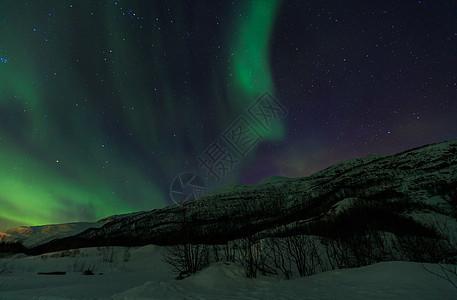 美丽的北欧冬季北极光图片