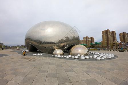 克拉玛依一号井油泡建筑城市图片