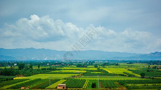 陕西西安郊外田园风光图片