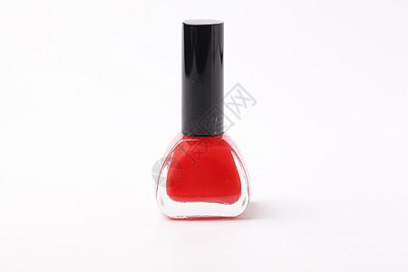 红色指甲油图片