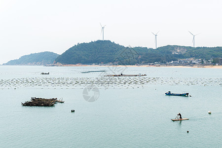 海上渔排图片