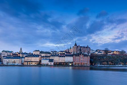 斯德哥尔摩日出城市风光图片
