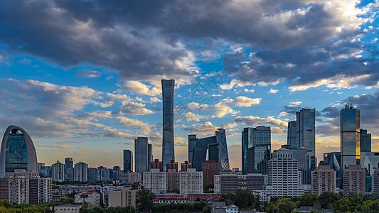 晚霞多云北京国贸建筑群图片