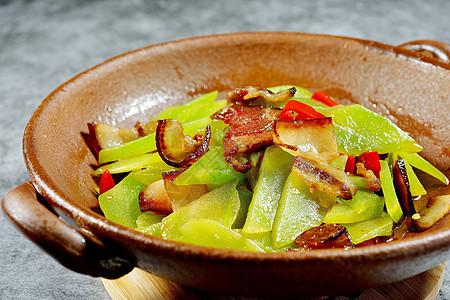 干锅腊肉莴笋图片