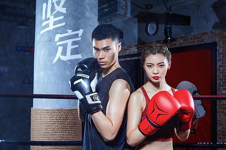 拳击运动员对弈图片