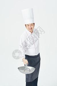 男厨师炒菜图片