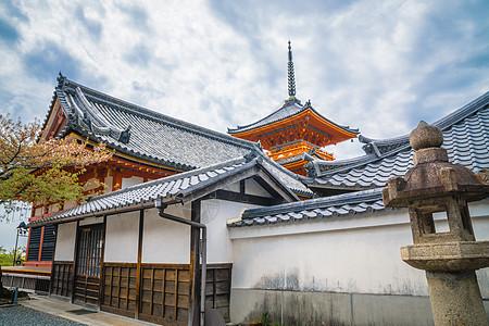 日本京都清水寺春季图片
