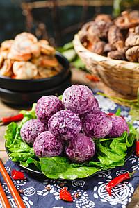 紫薯丸子图片