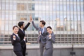 商务团队庆祝成功图片