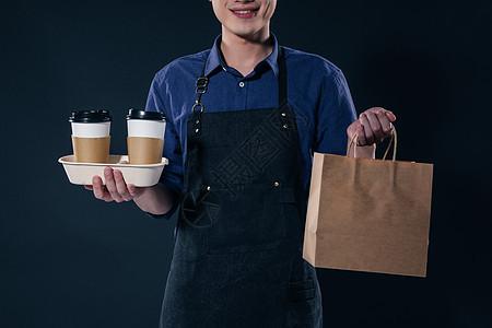 咖啡师外卖打包图片