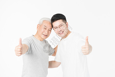 父亲节老年父子图片