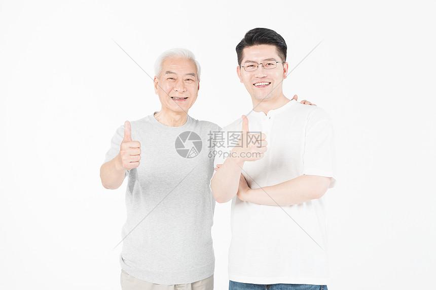 老年父子图片