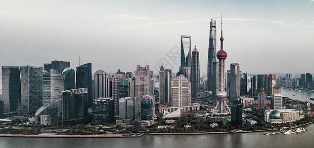 黄浦江畔陆家嘴景色图片