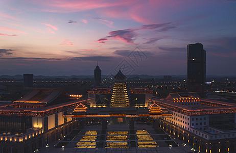 夜景建筑群图片