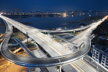 城市建筑立交桥夜景图片