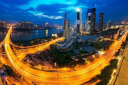 夜景繁华建筑群图片